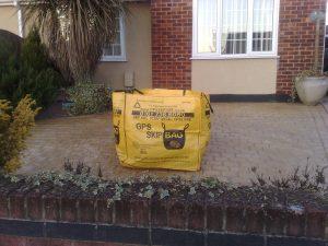 Skip Bag in a Garden