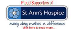 Proud Supporters of St Ann's Hospice